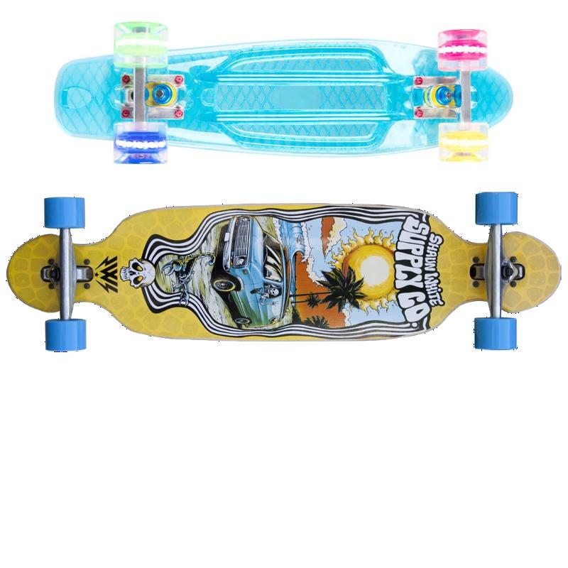 Skateboardy, Pennyboardy a Longboardy