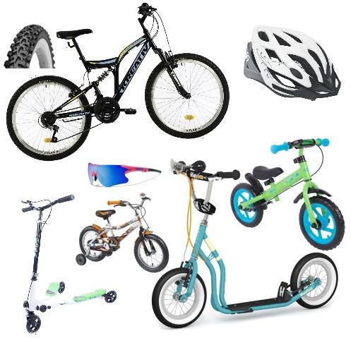 Cyklistika, koloběžky, odrážedla
