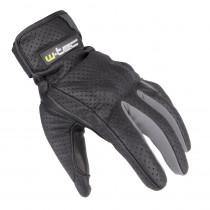 Letní kožené moto rukavice W-TEC Nyarra NF-4150 (Barva šedá, Velikost S)