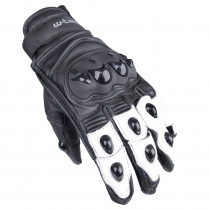 Moto rukavice W-TEC Radoon, černo-bílá, S