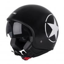 Helma na skútr W-TEC FS-710S Revolt Black, Černá s hvězdou, XS (53-54)