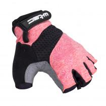Dámské cyklo rukavice W-TEC Atamac AMC-1038-17 (Barva šedo-růžová, Velikost XS)