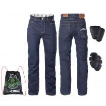 Pánské moto jeansy W-TEC Resoluto, modrá, S