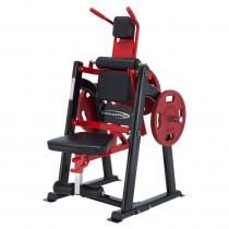 Posilovač břišních svalů Steelflex Plateload Line PLAC, černo-červená