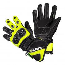 Motocyklové rukavice W-TEC Supreme EVO, černo-zelená, S