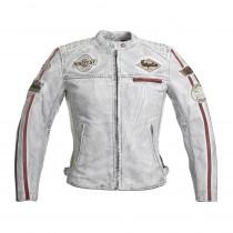 Dámská kožená moto bunda W-TEC Sheawen Lady White, bílá, XS