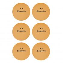 Pingpongové míčky inSPORTline Elisenda S2 6ks, oranžová