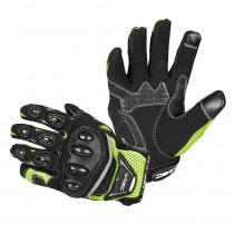 Moto rukavice W-TEC Upgear, černá-fluo, S