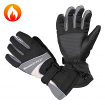 Univerzální vyhřívané rukavice W-TEC Boubin, šedá, XL