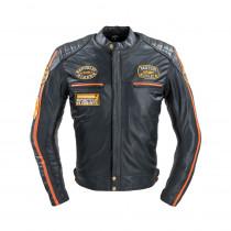 Pánská kožená moto bunda W-TEC Sheawen Classic, černá, S