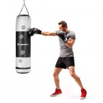 Boxovací pytel inSPORTline Robkin 120x35 cm, černo-bílá