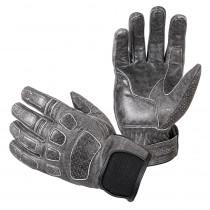 Kožené moto rukavice W-TEC Whacker, šedá, S