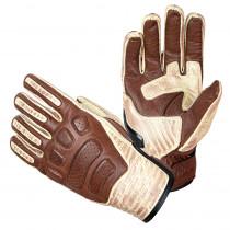 Kožené moto rukavice W-TEC Retro Gloves, hnědo-béžová, S