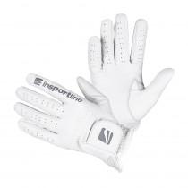 Dámské kožené rukavice inSPORTline Elmgreen Lady, krémově bílá, S