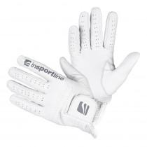 Pánské kožené rukavice inSPORTline Elmgreen, krémově bílá, M/L