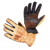 Moto rukavice W-TEC Denver, černo-hnědá, S