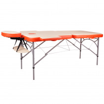 Masážní stůl inSPORTline Tamati 2-dílný hliníkový, oranžová