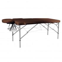 Masážní stůl inSPORTline Tamati 2-dílný hliníkový, hnědá