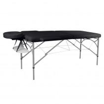 Masážní stůl inSPORTline Tamati 2-dílný hliníkový, černá