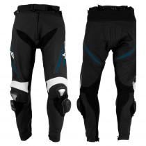 Pánské kožené moto kalhoty W-TEC Vector, černo-modrá, XL