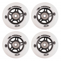 In-line kolečka WORKER 80mm a ložiska ABEC-7 chrome - Set 4 ks