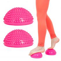 Balanční a masážní podložka na chodidla inSPORTline Uossia, růžová