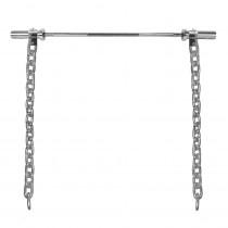Vzpěračské řetězy s tyčí inSPORTline Chainbos Set 2x25 kg
