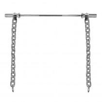 Vzpěračské řetězy s tyčí inSPORTline Chainbos Set 2x30 kg