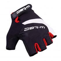 Cyklo rukavice W-TEC Jaynee, černo-červená, M