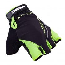 Cyklo rukavice W-TEC Kauzality, černo-zelená, S