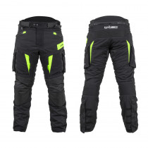 Moto kalhoty W-TEC Aircross, černá-fluo žlutá, S