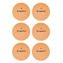 Pingpongové míčky inSPORTline Elisenda S1 6ks, oranžová