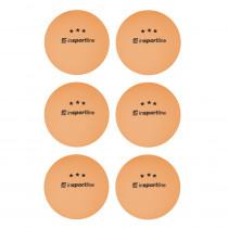 Pingpongové míčky inSPORTline Elisenda S3 6ks, oranžová