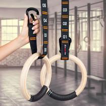 Dřevěné gymnastické kruhy inSPORTline Suspe