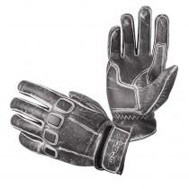 Kožené moto rukavice W-TEC Rifteur, černá, S