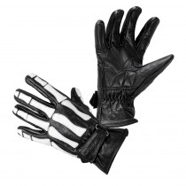 Moto rukavice W-TEC Classic, White Bones černá, S