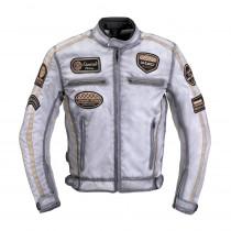 Pánská textilní bunda W-TEC Patriot, bílá, S