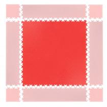 Puzzle zátěžová podložka inSPORTline Simple červená