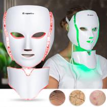 Ošetřující LED maska na obličej a krk inSPORTline Hilmana