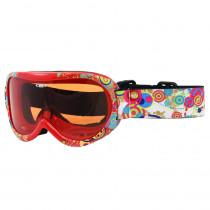 Dětské lyžařské brýle WORKER Miller s grafikou, Z12-RED-červená graf.