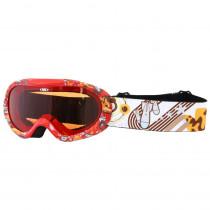 Junior lyžařské brýle WORKER Doyle s grafikou, červená s grafikou
