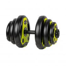 Jednoruční nakládací činkový set inSPORTline 3-18 kg černo-zelený