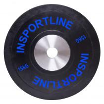 Gumový kotouč inSPORTline Bumper Plate 15 kg