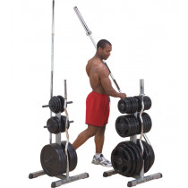 Stojan na tyče a závaží Body-Solid GOWT Olympic 2v1
