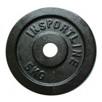Ocelové závaží inSPORTline Blacksteel 5 kg
