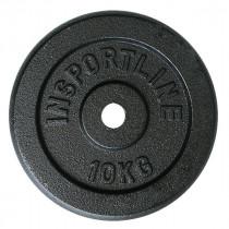 Ocelové závaží inSPORTline Blacksteel 10 kg
