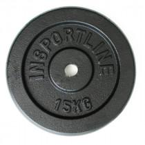 Litinové závaží inSPORTline Castblack 15 kg