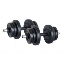 Jednoruční nakládací činkový set  inSPORTline DBS2181 2 x 3-10 kg