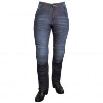 Dámské jeansové moto kalhoty ROLEFF Aramid Lady, modrá, 26/XS
