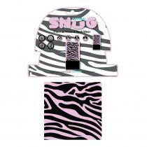 Univerzální multifunkční nákrčník Oxford Snug, Pink Zebra